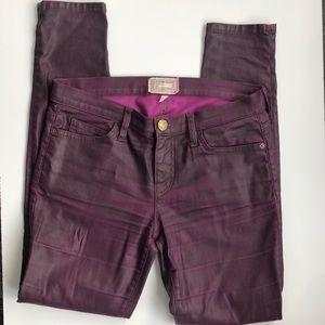 Current/Elliott Jeans - Current Elliot Coated Purple Skinny Jeans 26